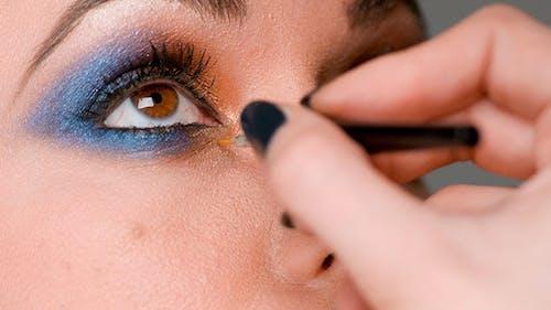 Make Up Artist Doing Job on Eyes