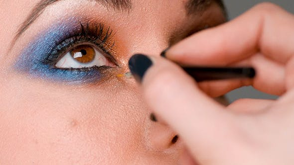 Thumbnail for Make Up Artist Doing Job on Eyes