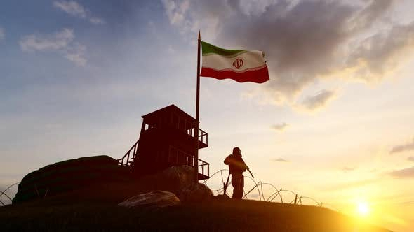 Thumbnail for Iranian Soldier Watching The Border At Dusk