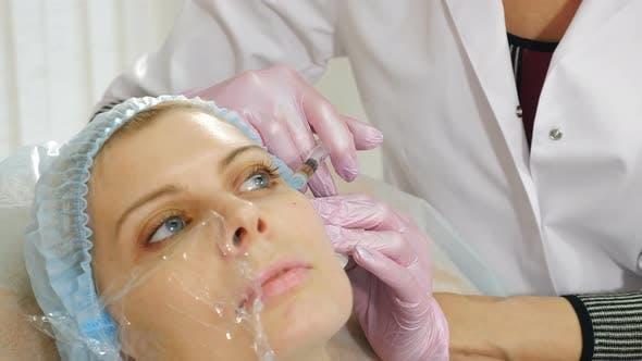 Beauty Injection Procedure in Modern Beauty Clinic