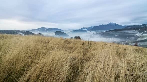 Thumbnail for Dry Grass in Cloudy Mountains