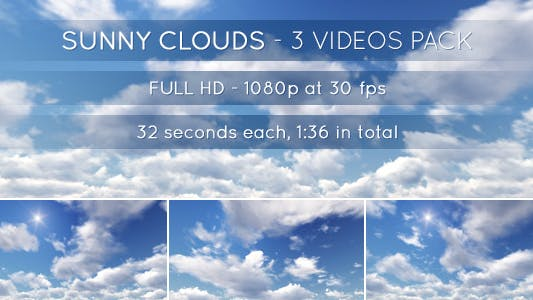 Thumbnail for Sunny Clouds - 3 Videos Pack