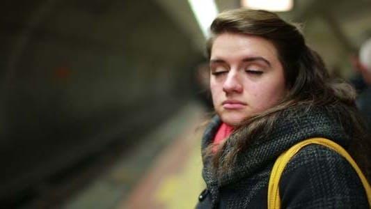 Thumbnail for Woman Waiting Metro At Station