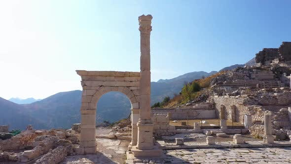 Archaeological Ruins of an Ancient City on a Summer Day