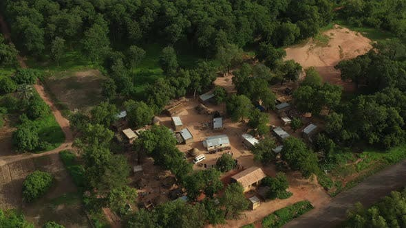 Thumbnail for Africa Mali Village Aerial View 9
