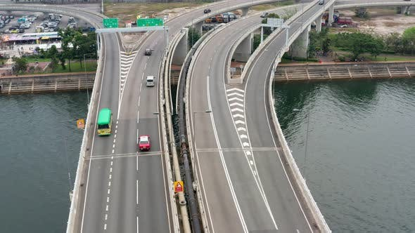 Thumbnail for Top view of the traffic in Hong Kong