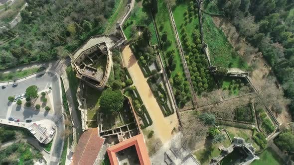 Thumbnail for Aerial of Monastery Convent of Christ in Portugal