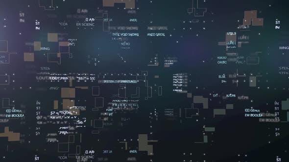 Futuristic Electronic Circuit Board with Binary Code