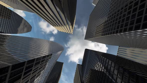 Thumbnail for Center of the Business District with High Rise Skyscrapers and Office Buildings