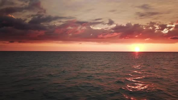 Thumbnail for Aerial Landscape with Tropical Sea Sunset