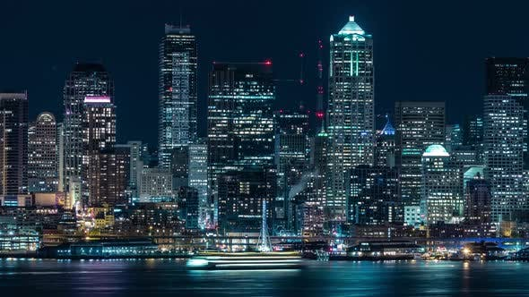 Thumbnail for Epic Seattle Waterfront Skyline Timelapse
