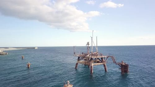 Platform Destroyed in the Sea