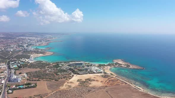 Cyprus beaches aerial view