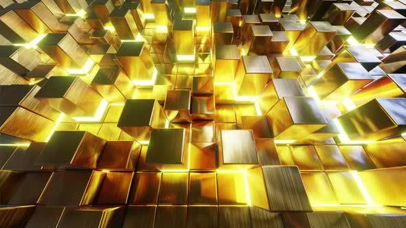 Thumbnail for Fliegen auf Gold Cube 01 4K