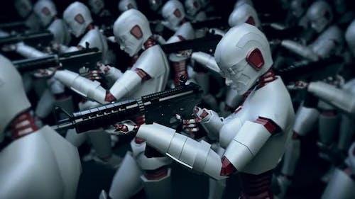 Современные киберроботы армии с искусственным интеллектом 4k