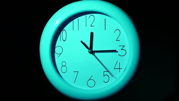 Thumbnail for Icon of White Clock with Shadow on Black Background