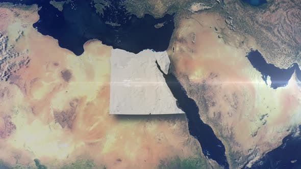 Thumbnail for Realistische Erde Zoom Highlight Land Ägypten