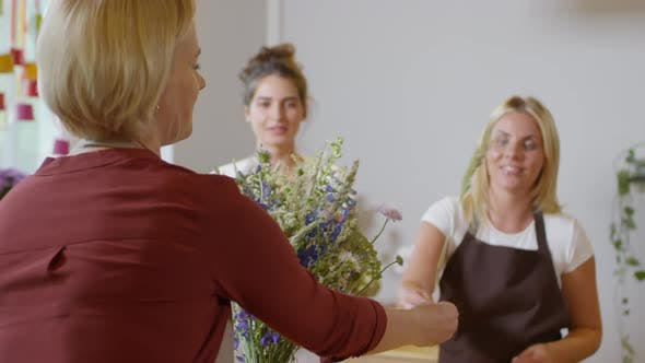 Thumbnail for Skilled Florist Giving Demonstration to Apprentices