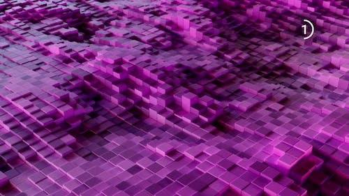 Purple Cubes VJ Loops