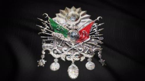Osmanische Flagge Nahtlose Schlaufe