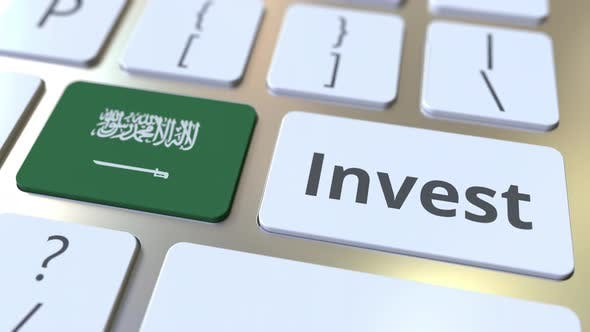 Thumbnail for INVEST Text and Flag of Saudi Arabia on Buttons of the Keyboard