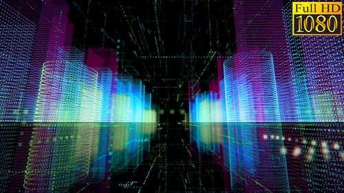Digital City Background Loop 003