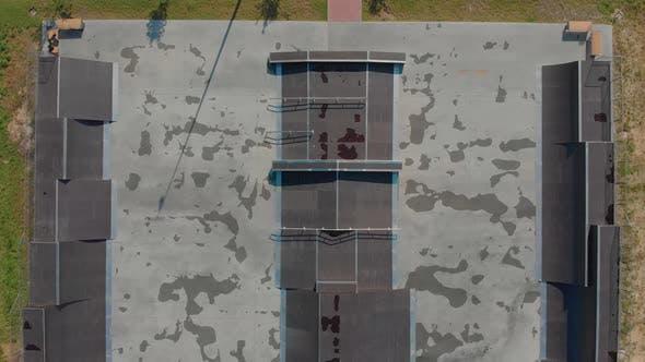 Empty Skate Park Aerial