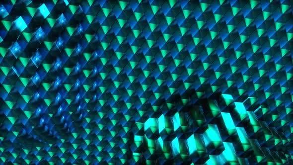 Neon Hexagons 4K, Loop