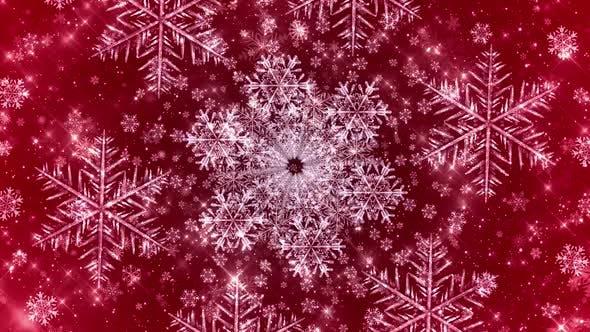 Thumbnail for Snowflakes Seamless Red Bg