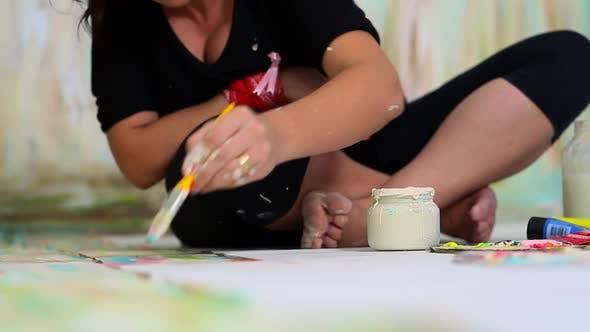 Thumbnail for Der Künstler malt ein Bild