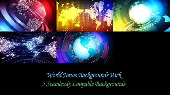 Thumbnail for World News Backgrounds Pack
