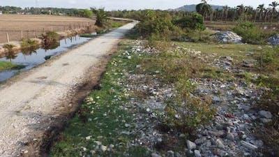 Waste rubbish construction site