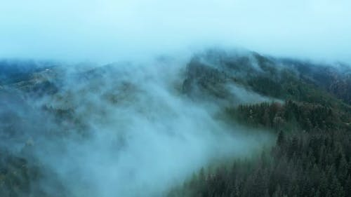 Mountains Rain Forest Weather Clouds Aerial Tree Autumn