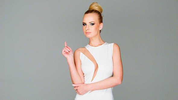Thumbnail for Elegant Beautiful Blond Woman in Dress