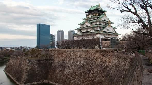 Thumbnail for Osaka Samurai Castle Defence Fort on Day Timelapse