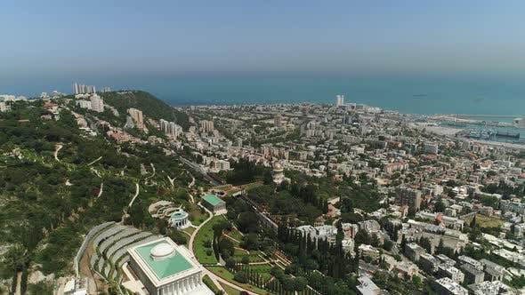 Aerial view of Haifa and Mount Carmel