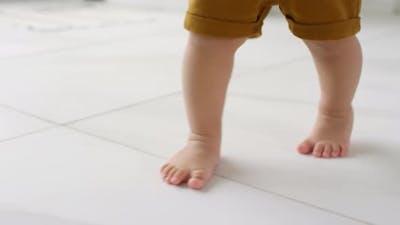 Toddler Walking Barefoot