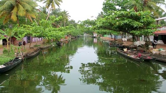 Thumbnail for Everyday Scene In Kerala Backwaters