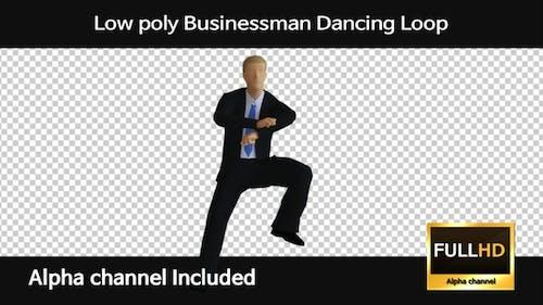 Low Poly Businessman Dancing Loop