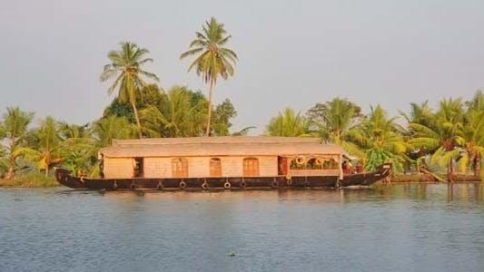 Thumbnail for House Boat Moored Alongside Canal In Kerala