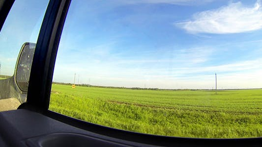 View From Moving Car Window
