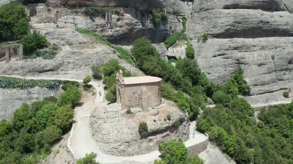 Thumbnail for Aerial View of Ancient Temple on Cliff Top
