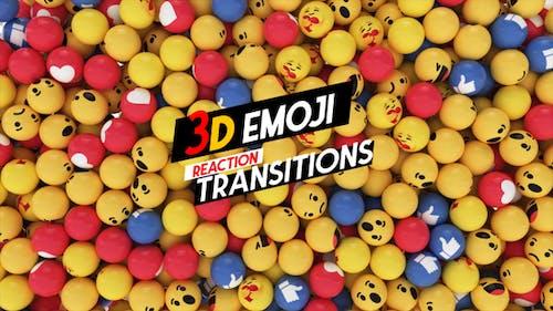3D Emoji Reaction  Transition