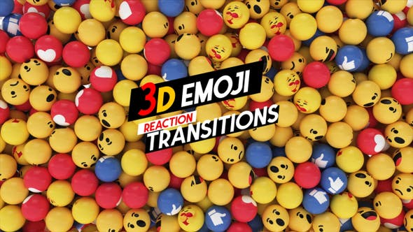 Thumbnail for 3D Emoji Reaction  Transition