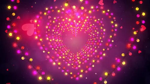 Glittering Hearts Lights
