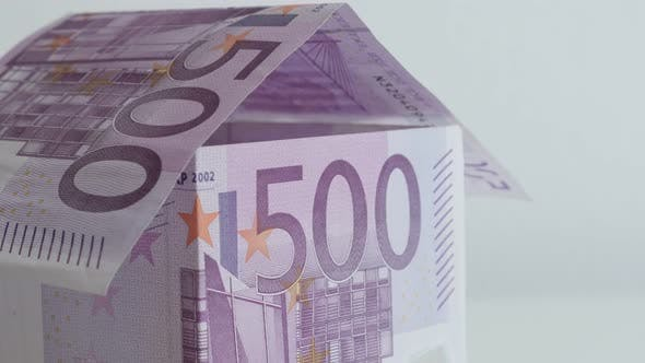 Thumbnail for Tilting on real estate with 500 Euro denominations 4K 21650p 30fps UltraHD footage - House made meta