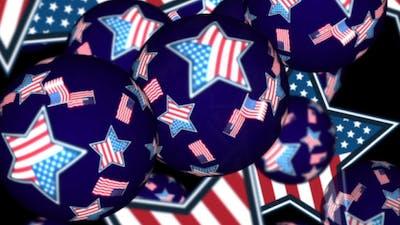 American Flag Spheres