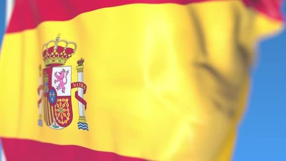 Thumbnail for Flying National Flag of Spain