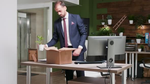 Thumbnail for Getting Fired - Office Worker Packs His Things