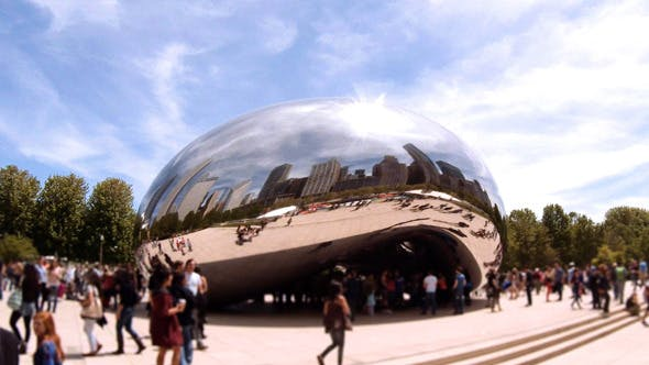 Thumbnail for Cloud Gate or Bean Sculpture in Chicago
